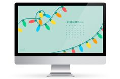 Dress up your computer for the holidays with this free calendar wallpaper! Also available for phones and tablets!