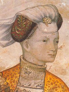 castello della manta fresco | Lamina di Affresco del Rinascimento italiano di l'Castello della Manta ...