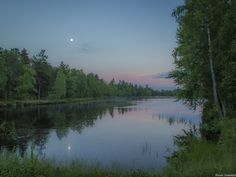 2.nd Bjørndalsdam in the moonlight after sunset. Copyright Heidi Femmen