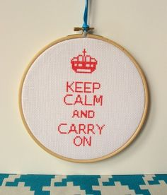 keep calm and carry on cross stitch