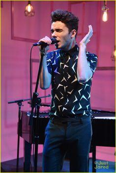 Nathan Sykes no People Now Concert Series em Nova York, nos Estados Unidos. (28 jul.)