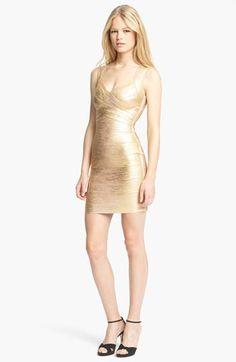 Herve Leger // Metallic Bandage Dress // Julia Franks Photography + Eight Twenty One Studio Style Guide