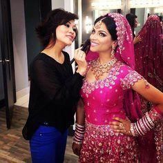 love the pink! Oh My Lilly! Lily Singh, Punjabi Girls, South Asian Bride, Desi Wear, Indian Outfits, Indian Clothes, Punjabi Wedding, Celebs, Celebrities