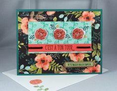 Joyeux anniversaire beauté (Happy Birthday Gorgeous) stamp set and Whole Lot of Lovely Designer Series Paper from Stampin' Up! - Designed by Cindy Major