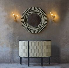 A gorgeous cabinet with inlay resin, same as the graphic mirror. Designed by Matteo Cibic for Scarlet Splendour. Read more on my Blog. Brillante Interiors