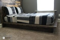 Hey there! Join us on Instagram and Pinterest to keep up with our most recent projects and sneak peeks! Check out our new how-to videos on YouTube! Make sure to subscribe to our channel so you don't miss any! Hey guys!  I'm back to share the platform bed that I made for my son 🙂 {...Read More...}