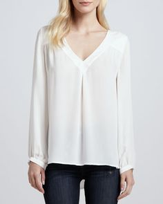 Frenchie+B+Silk+Blouse+by+Joie+at+Bergdorf+Goodman.