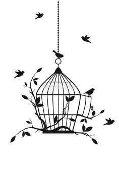 #Bird #cage #Drawings #Art #Painting #Ink #Ideas