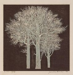 木 / Tree, Joichi Hoshi / 星襄一. Japanese (1913 - 1979) - woodblock -