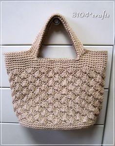 麻ひもの松編みバッグ製作中です♪ - 3104*crafts