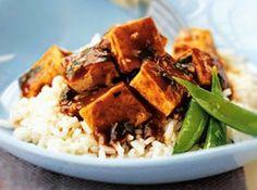 Tofu Ahumado Picante con Arroz