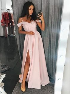 Spaghetti Straps Affordable Prom Dresses Long Evening Dresses for Wome – Hoprom Gray Formal Dress, Grey Prom Dress, Prom Dresses Long Pink, Long Bridesmaid Dresses, Cheap Prom Dresses, Prom Party Dresses, Dresses For Teens, Trendy Dresses, Occasion Dresses