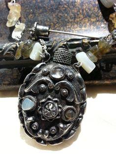 Sacred Vintage Moroccan Silver Gemstone Perfume  by LoveByNina