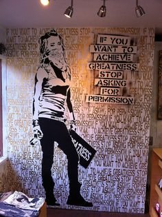 If you want to achieve greatness stop asking for permission by Eddie Colla by Steve Rhodes, via Flickr