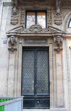 Paris, 9 place de la Madeleine. | by Marie-Hélène Cingal #mealwork #door
