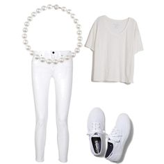 Whites by birdiesmind on Polyvore featuring polyvore fashion style Fine Collection dVb Victoria Beckham Keds