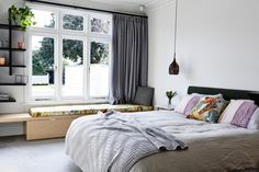 Sandringham Residence master bedroom by Doherty Design Studio. Architect: Techne Architects. Photographer: Derek Swalwell.