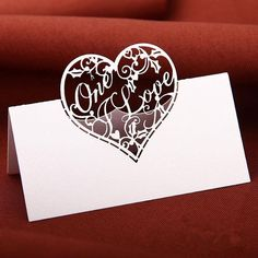 Love Heart Place Name Cards White For Wedding Party Table Setting Decor Name Place Cards Wedding, Wedding Cards, Wedding Gifts, Table Seating Cards, Heart Place, Place Names, Alternative Wedding, Love Heart, Wedding Reception