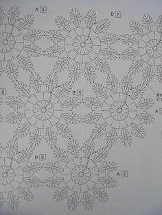 Flower chart... http://auremalou.canalblog.com/albums/crochet_and_the_city_/photos/30837993-img_2966.html