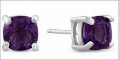 Enter to win 2CT amethyst stud earrings!