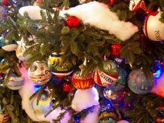 Each ornament on the Blue Room tree was personally decorated by artists chosen by members of Congress in their specific state, district or territory.