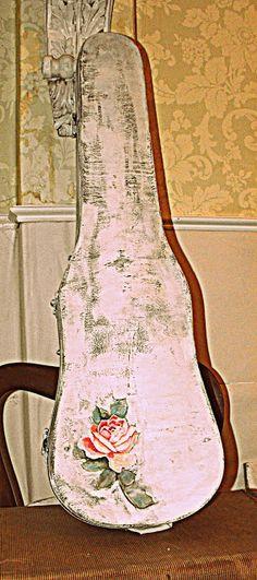 Front Porch Posts- Redone vintage wooden violin case.