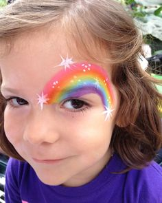 Chicago Face Painter Valery Lanotte - Rainbow Over Eye | Face Painting Girls