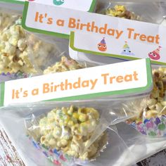 Birthday Sandwich Size Treat Bag Toppers {Free Printable} • FYI by Tina