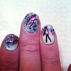 Michael Jackson nails -80's nails