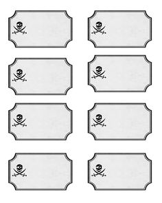 Just in case you are planning a Pirate Party Here are Printable Labels for all the food. Open in Word and add your own text then Print on card stock! Labels make any party feel more planned out and more organized!