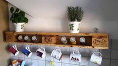 Pallet Kitchen Tea Rack