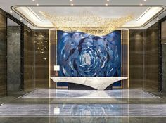 The best of high-end contemporary design in a selection curated by Boca do Lobo to inspire interior designers looking to finish their projects while displaying the best design happening right now. Reception Desk Design, Hotel Reception, Reception Areas, Reception Counter, Reception Table, Hotel Interiors, Office Interiors, Hotel Lobby Design, Counter Design