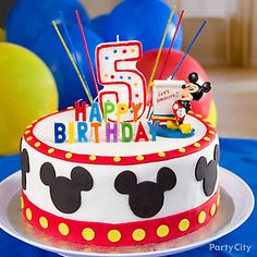 Mickey Mouse Cake How To