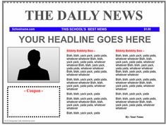 Google Docs Newspaper Template By Newspaper Templates On