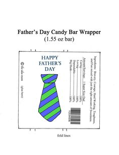 father's day candy bar wrap
