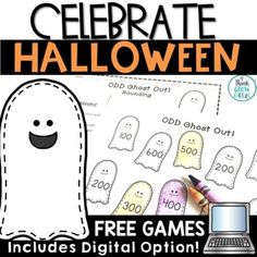 Halloween Math Games Google Slides by Think Grow Giggle | TpT Free Math Games, Math Activities, Teaching Math, Student Learning, Teaching Ideas, Halloween Math, Halloween Season, Halloween Bulletin Boards, Game Google