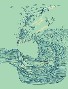 Ocean Breath Art Print by Huebucket on Society6.