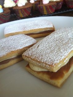 Napoleons with Vanilla Bean Pastry Cream on homemade puff pastry