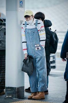 Rap Monster ❤ BTS at Incheon airport heading to Nagoya, Japan #BTS #방탄소년단