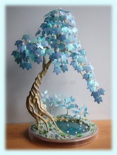 Details about 10 Seeds Rare Wisteria Bonsai Seeds Mini Bonsai Indoor Ornamental Plant Se Beaded Crafts, Wire Crafts, Polymer Clay Crafts, Diy And Crafts, Paper Crafts, French Beaded Flowers, Wire Flowers, Paper Flowers, Wire Tree Sculpture