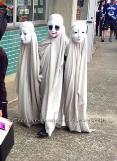 Creepy Ghosts Three Headed Illusion Costume