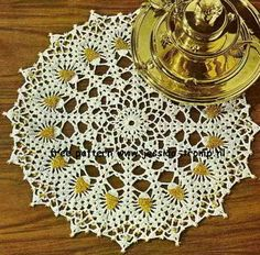beads doily - vintage - free pattern - so pretty beaded!
