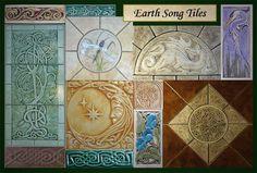 Decorative Handmade Ceramic Tile Art - garden decor outdoor wall art and ceramic tiles. by gvega on etsy with ceramic tiles // decorative tiles // wall tiles // bathroom tiles // hand painted tiles // tile art // mandala set of 4 tiles // turquoise Wall D Ceramic Tile Art, Glazed Ceramic, Handmade Tiles, Handmade Ceramic, Tile Murals, Wall Tiles, Turquoise Walls, Unique Tile, Outdoor Wall Art