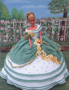 Crochet mode poupée Barbie Pattern - #29 randonnées ROSES