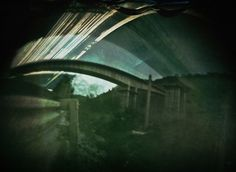 Six months exposure solargraphy during the construction of a bridge in Alcoi #solarigrafia.