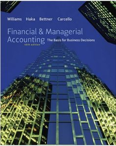 Financial and Managerial Accounting 16th Edition $19.99