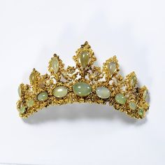 The Chrysoprase Tiara, English, 1825-1835—given by Dame Joan Evans, now in the Victoria and Albert Museum