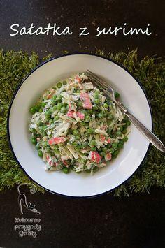 Kulinarne przygody Gatity: Sałatka z surimi i zielonym groszkiem