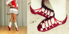 A New Trend In Irish Dance: Colored Ghillies > click to read article. These are amazing!!!!