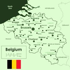 map of belgium cities - Google Search